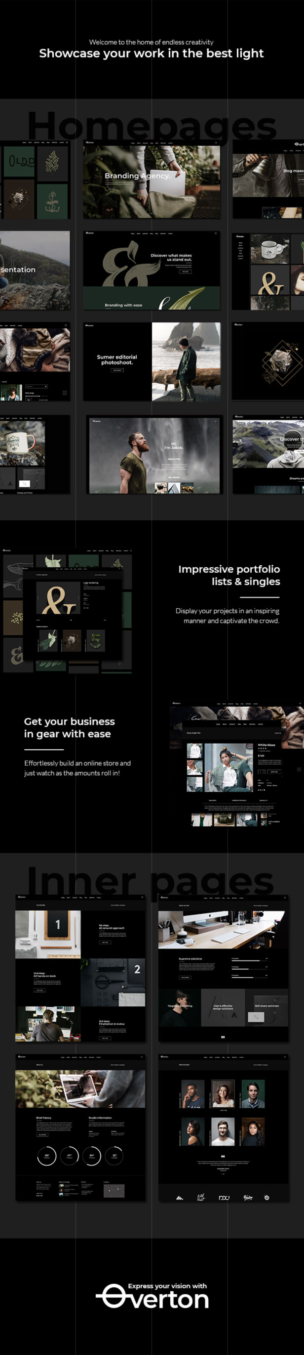 Overton - Creative Theme for Agencies and Freelancers - 1